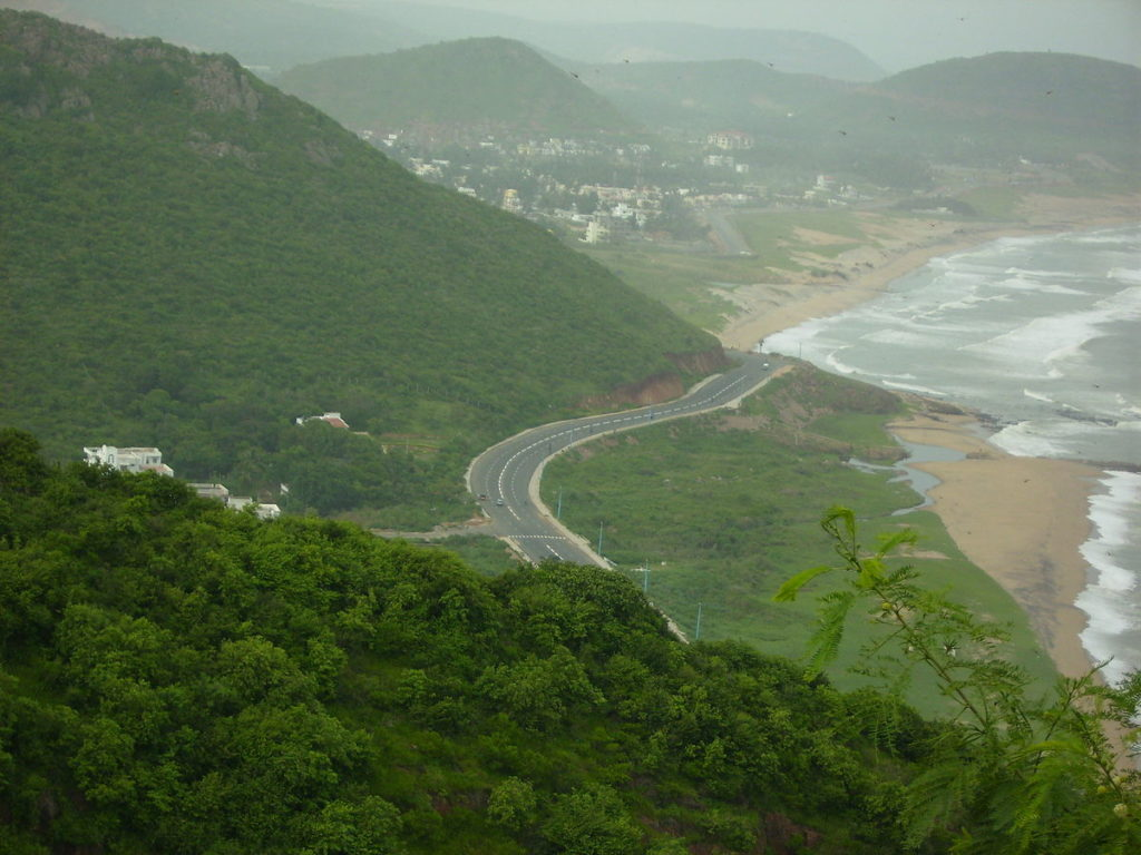 Eastern Ghats at Visakhapatnam Beach Road