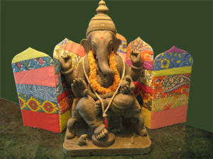 Eco friendly ganapati decoration