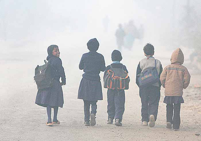 Nai Dilli culture - Delhi winter children