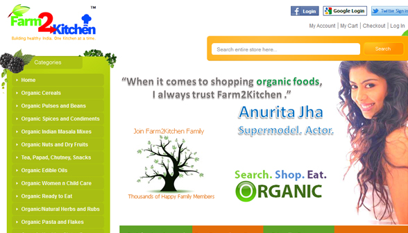 eco-friendly products - Farm2Kitchen organic fresh fruits and vegetables