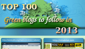 top 100 green blogs
