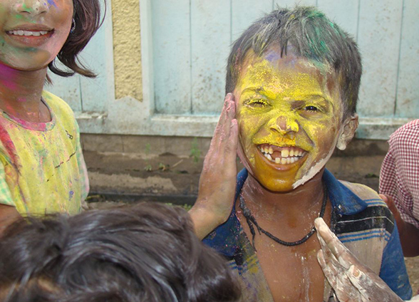 Move away from Hazardous Holi - Children Holi colour