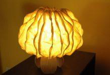 Banana fibre lamp by Jenny Pinto