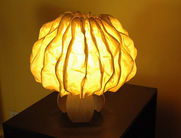 Eco-friendly Ideas India - Banana fibre lamp by Jenny Pinto