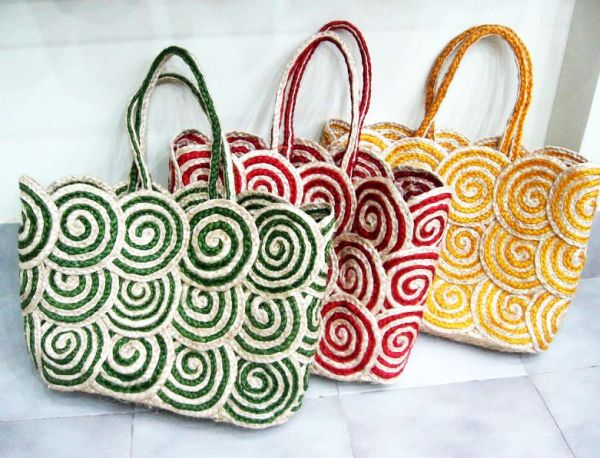 Alternatives To Plastic Bags Banana Fiber Wicker Bag