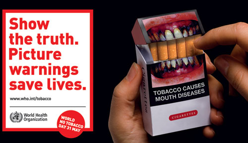 still Smoking - Pictorial warning by WHO