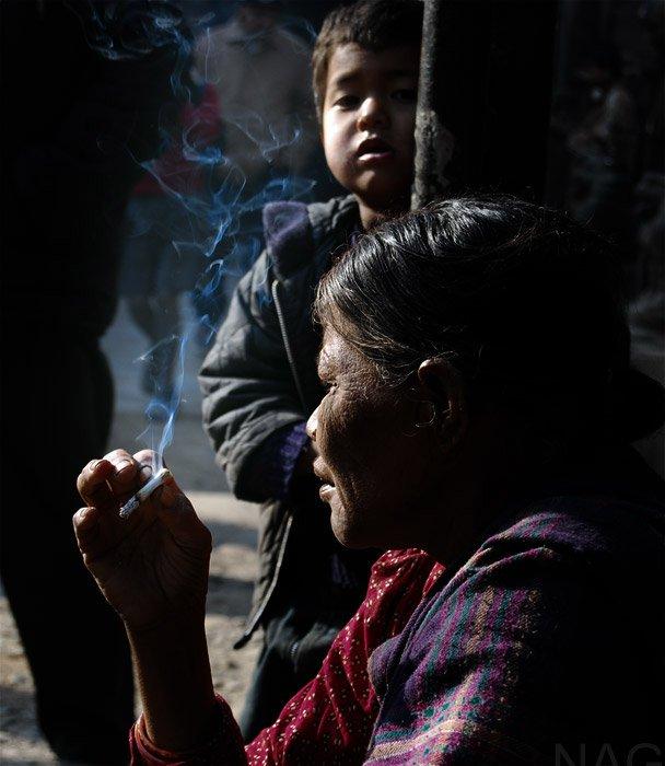 smoking in public