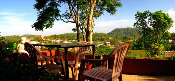 Homestays at Coorg - Birds eye view of Madikeri from Ajantha Homestay