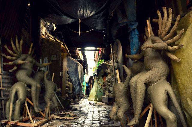 Kumartuli - Unfinished Sculptures in Kumartuli