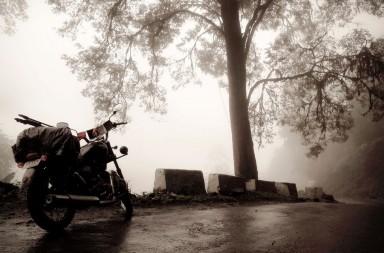Fog envelops the serene beauty of Seven Sisters