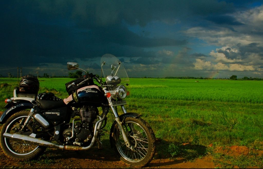 Tale of Seven Sisters - Riding along verdant fields on NH-34