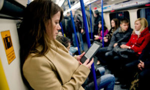 Using eReader on commute | The Guardian