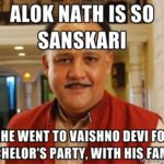 Alok Nath in cyber tsunami?