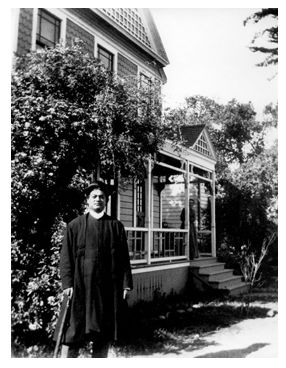 Swami Vivekananda at Mead sisters' home in South Pasadena, US