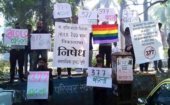 Protest against Art.377  Samapathik Trust