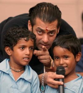 socially concerned celebrities : Salman Khan-Children