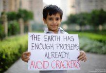 Crackerless Diwali poster Avik-Sapal