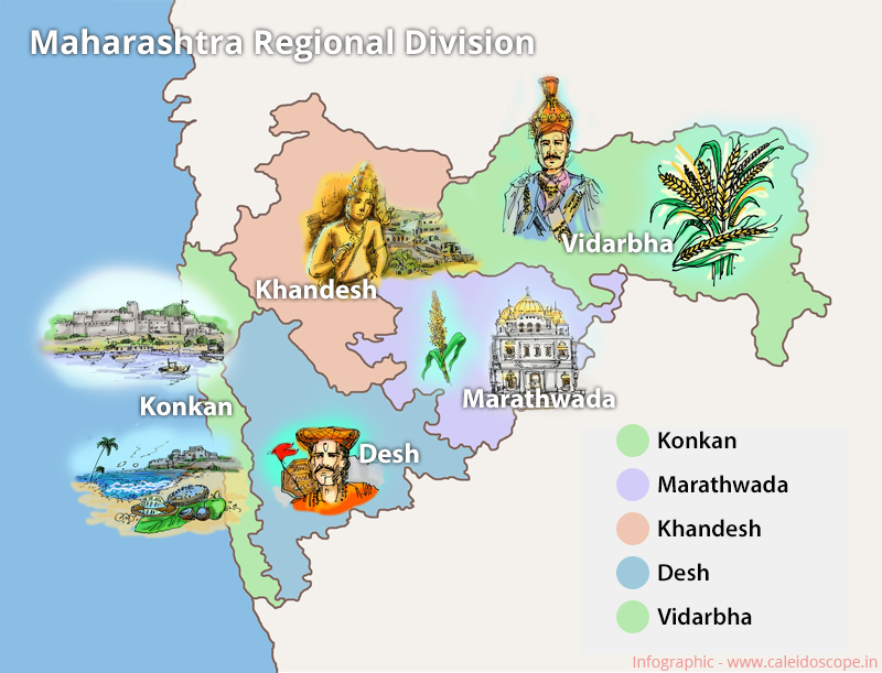 Infographics - Maharashtra Region Map