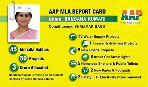 A powerless Aam Aadmi Party issues a report card for its MLAs. How is this MLA still working on 50 projects from the outside, when the entire system is rotten?