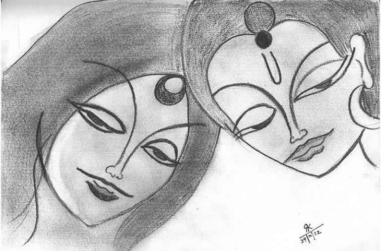 Contemporary-Indian-Art-Sketch