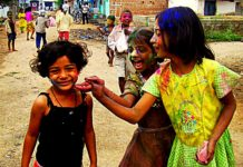 Childhood-joy of Holi