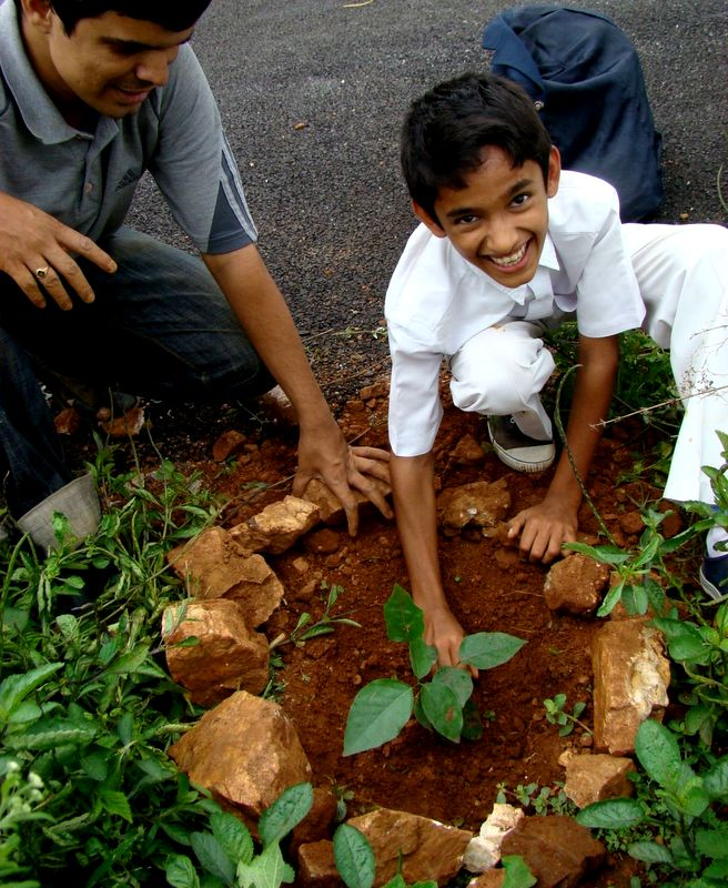 Childhood Memories - tree planting