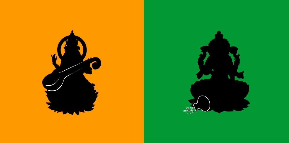 Lakshmi vs Saraswati