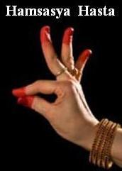 hand mudras - Hamsasya Hasta