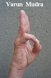 hand mudras - Varun Mudra
