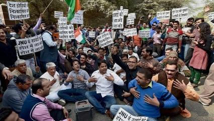 JNU Teachers protest