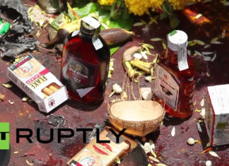 Lord-Muneshwara-Karwar---Devotees-offer-cigarettes-alcoholic-drinks