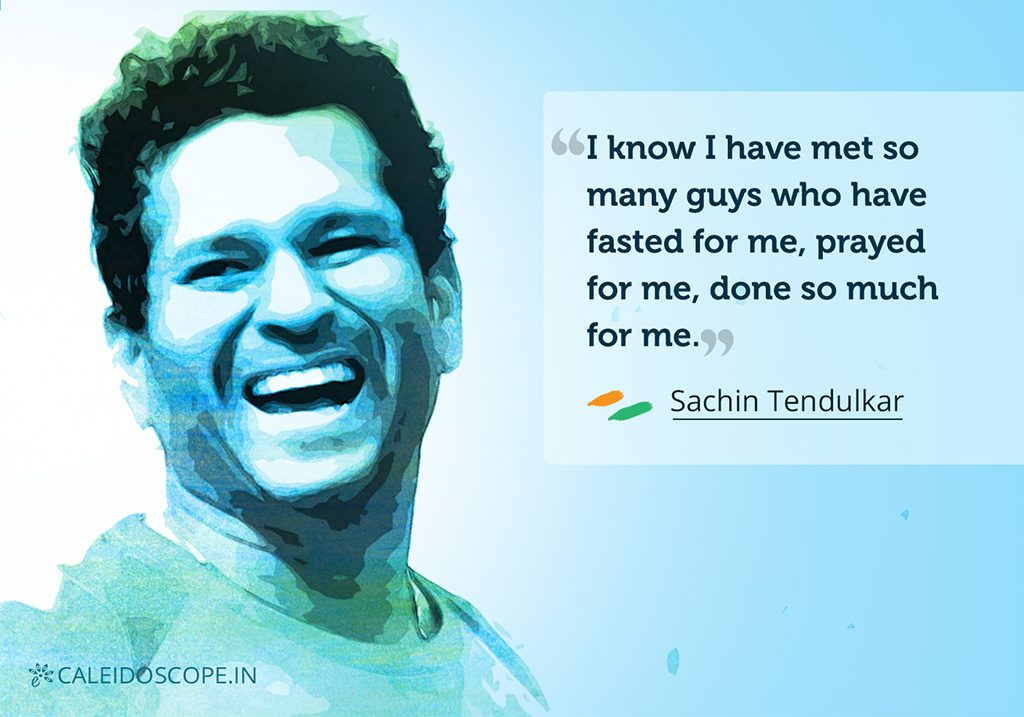 Heart Warming Speeches by Indians - Sachin Tendulkar
