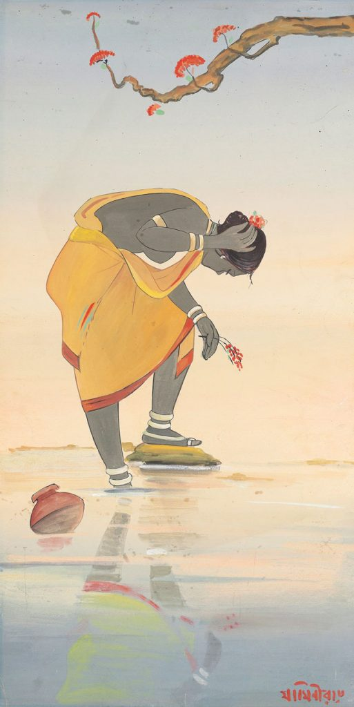 Jamini-Roy-Modern-Folk-Art-Santhal-Girl