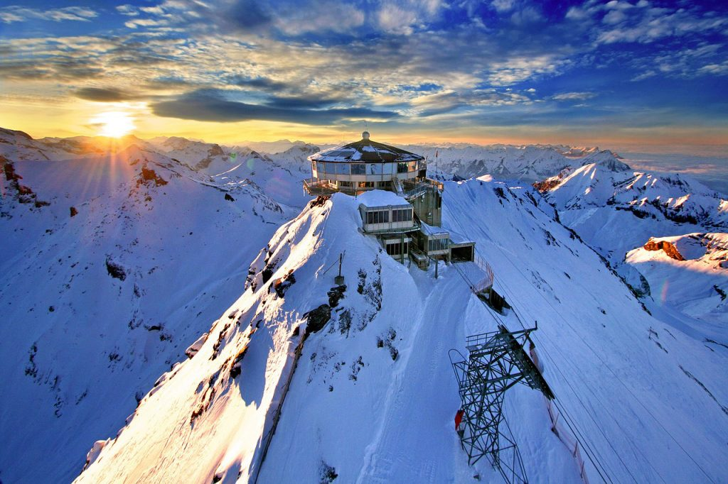 Destinations-Where-You-Can-Unwind-and-Rejuvenate,--schilthorn-mountain-station-switzerland