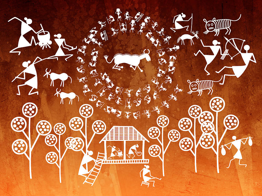 Warli paintings a timeless folk art form of india altavistaventures Image collections