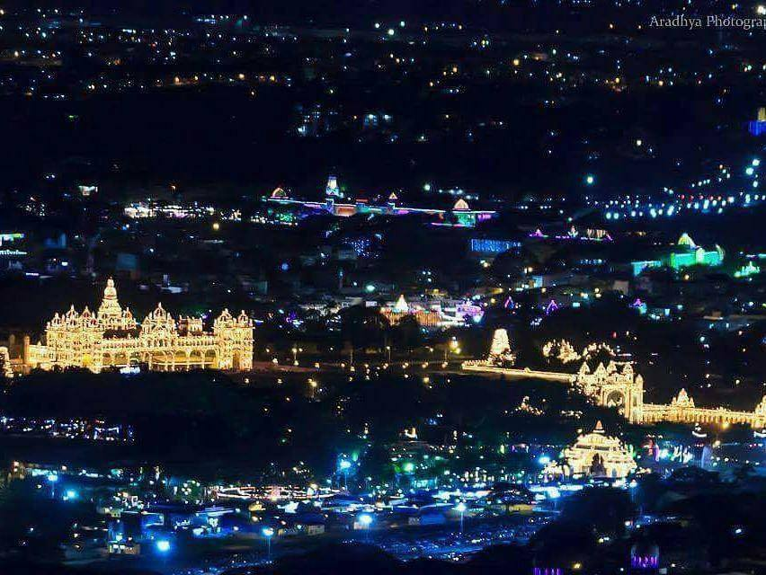 Enjoy the beautiful city of Mysore @ Night