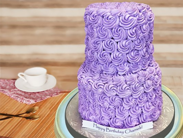 Purple-Swirled-Rose-Cake