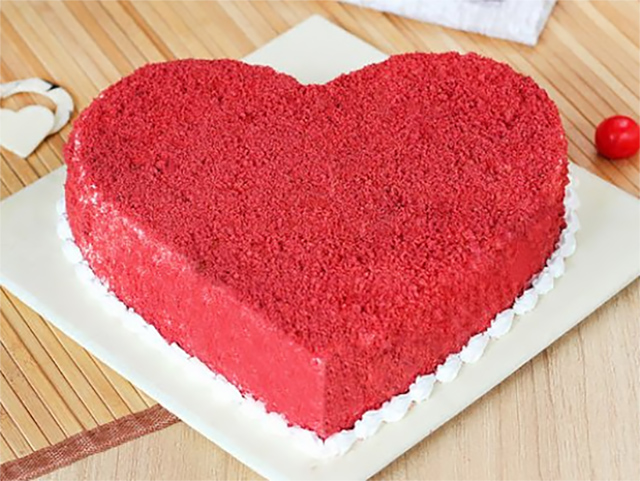 Red-Velvet-Heart-Shape-Cake