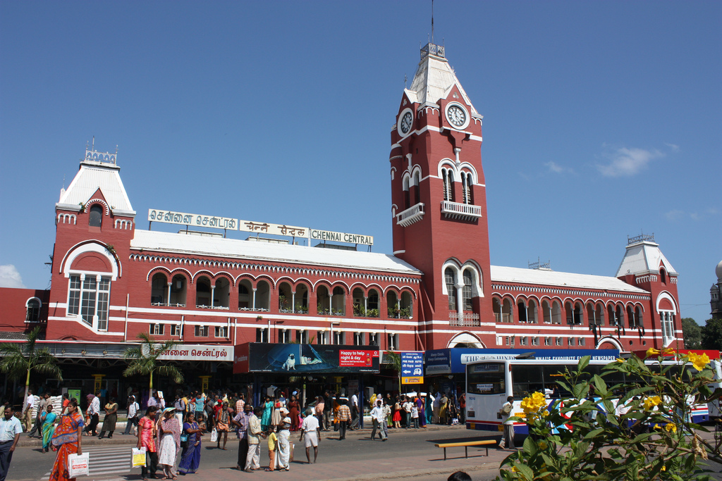 British-Colonial-Architecture-in-India Chennai Central Station