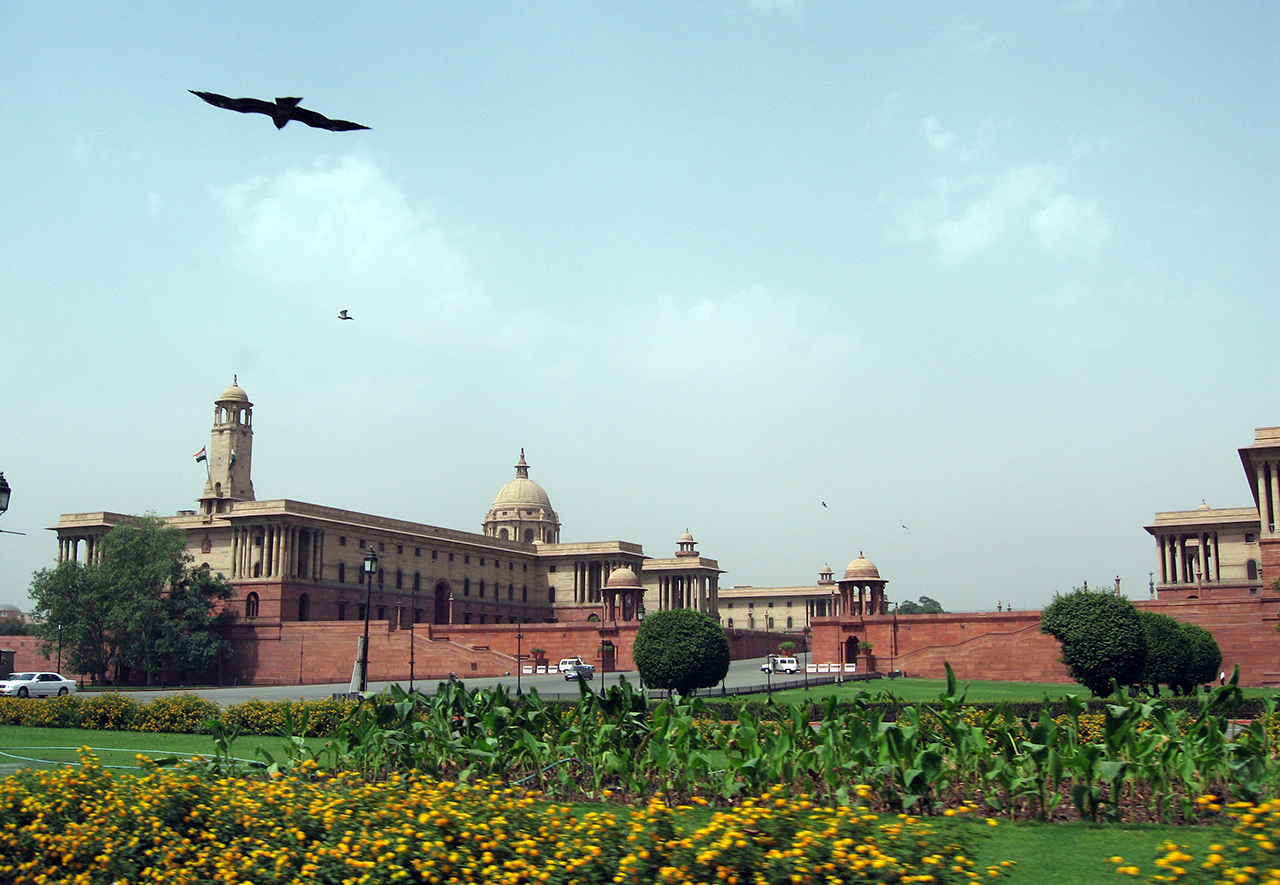 British-Colonial-Architecture-in-India-Parliament Delhi