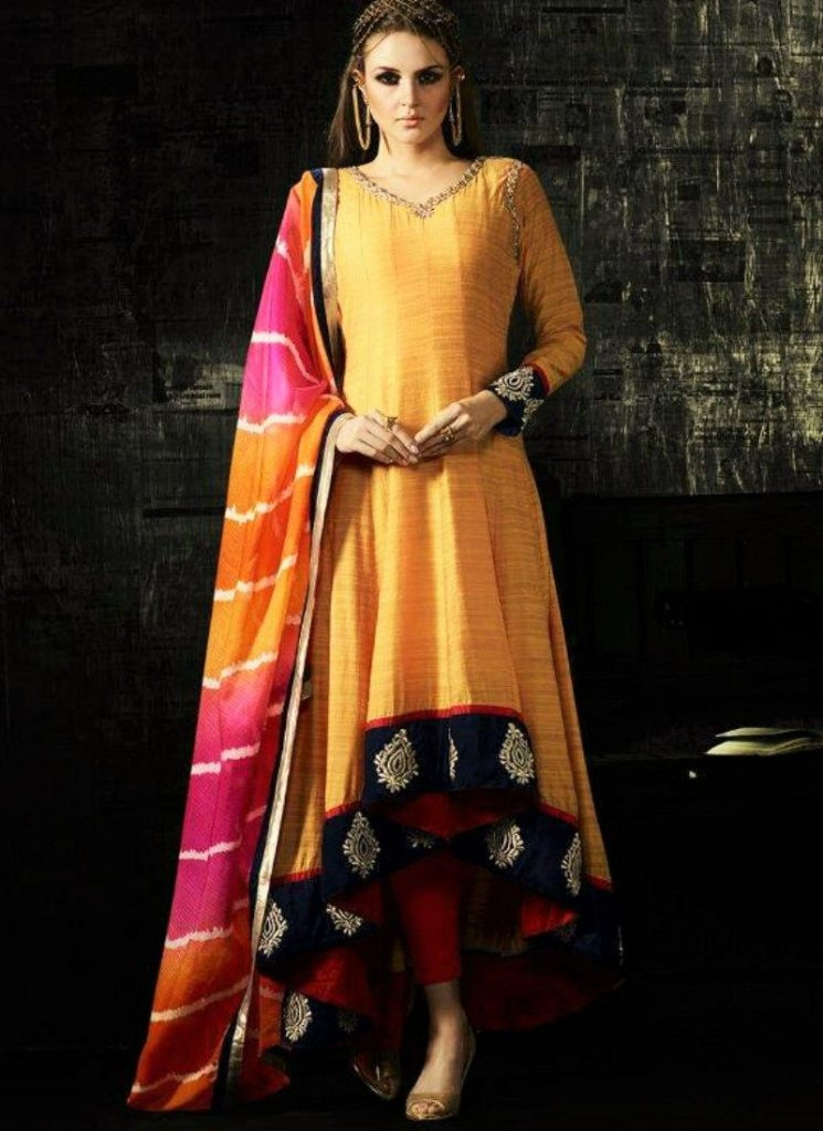 High Low Style Anarkali Suit