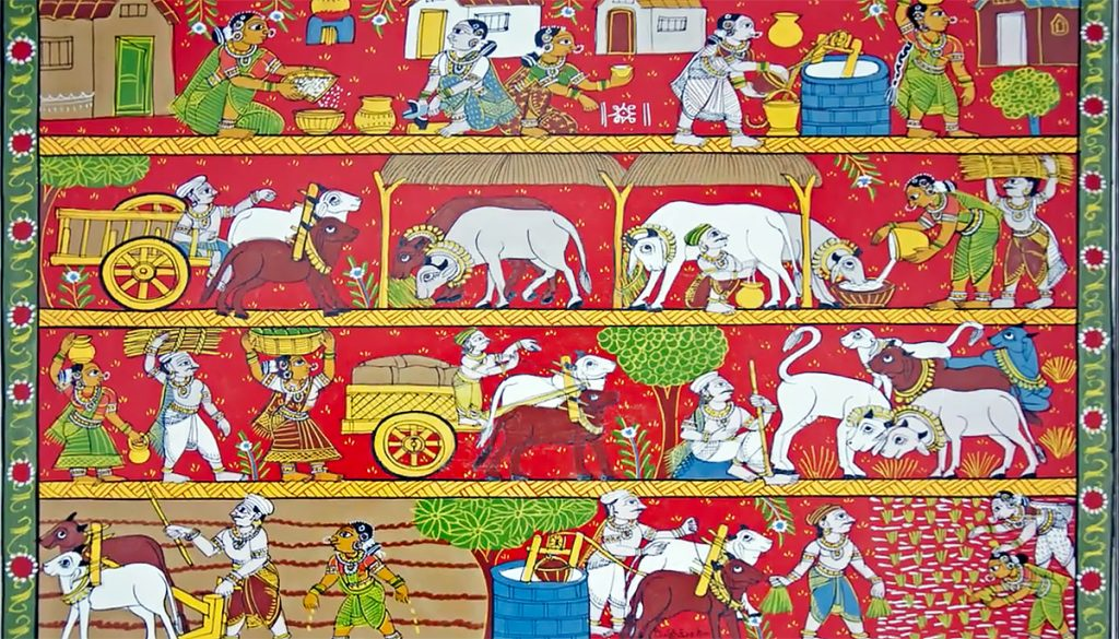 Scroll-Paintings-of-India-Cheriyal-Paintings