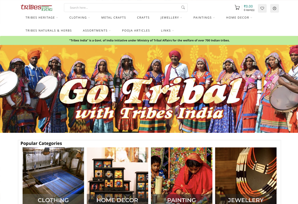 Tribes India – Exclusive Shop of Tribal Artefacts