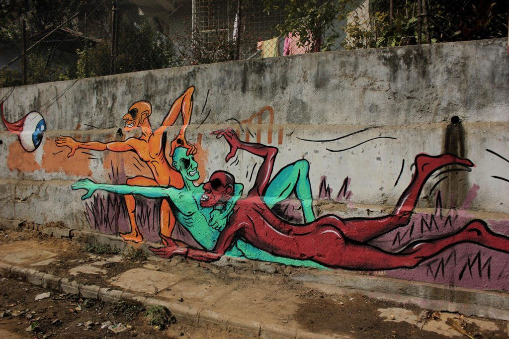 Street-Art-in-India Graffiti U.F.O