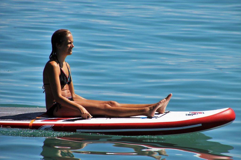Paddle-boarding sport