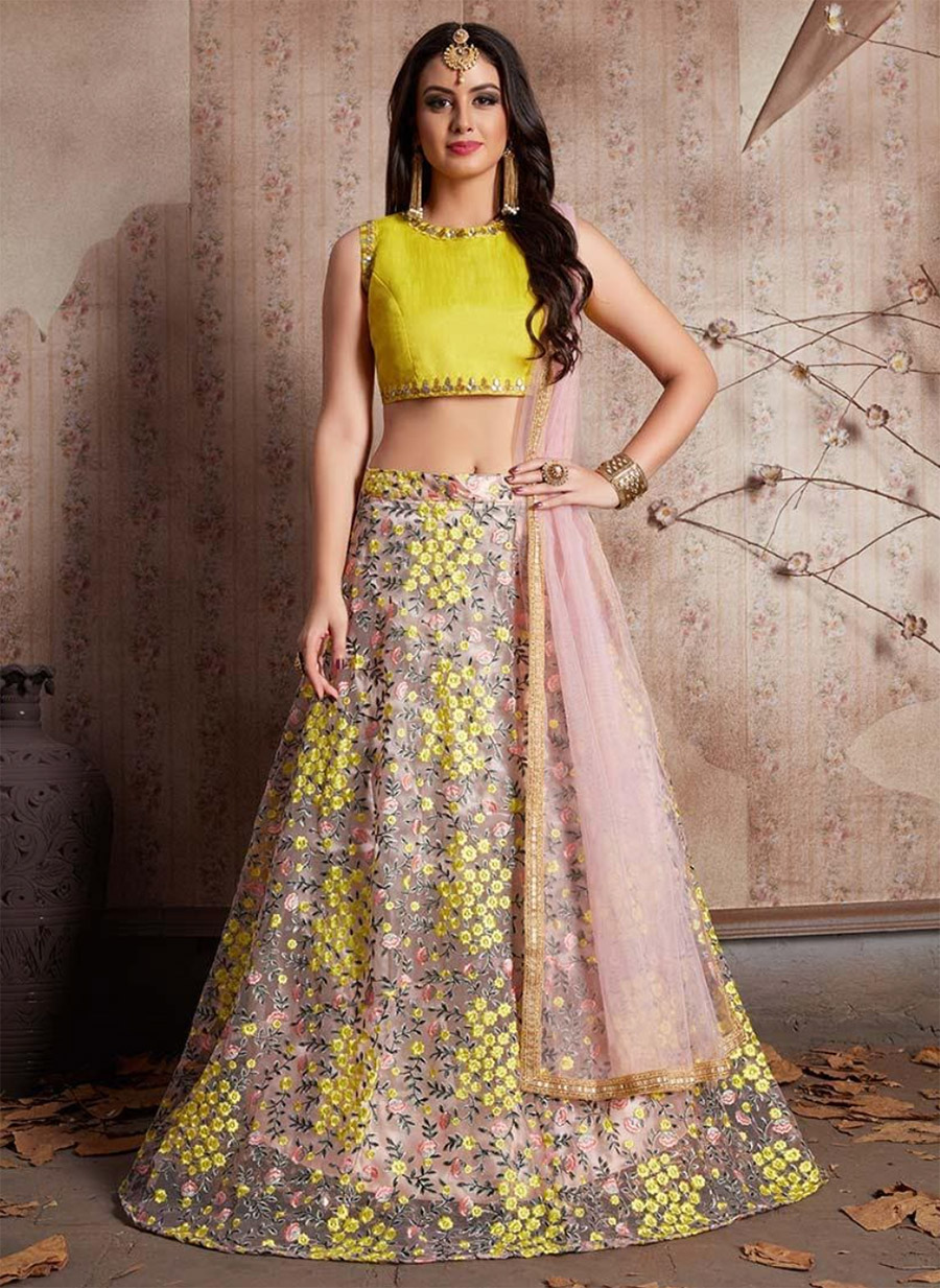 Lehenga-Designs-to-Wear-to-a-Traditional-Event-A-line-Lehenga