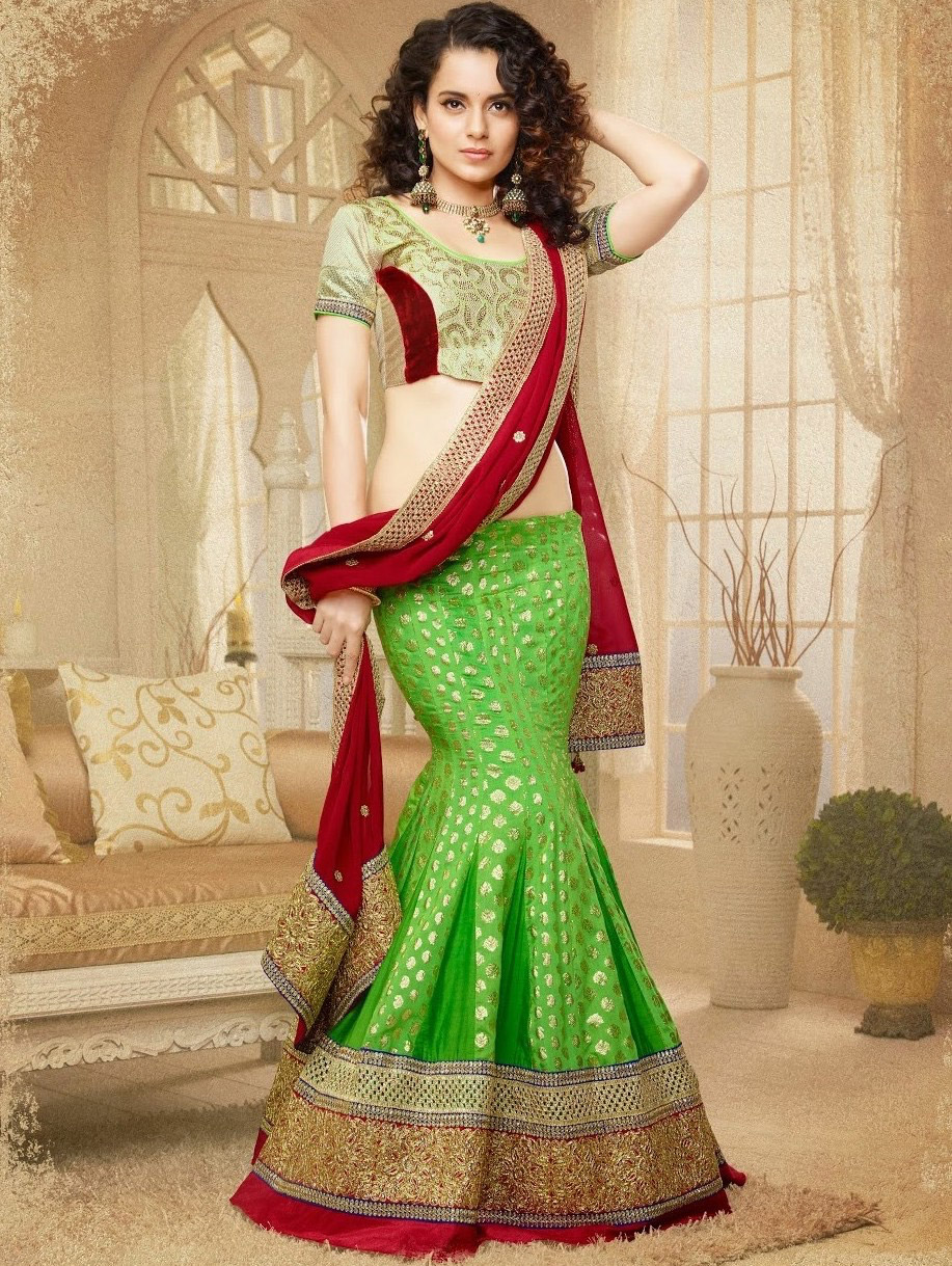 Lehenga-Designs-to-Wear-to-a-Traditional-Event-Mermaid-Lehenga