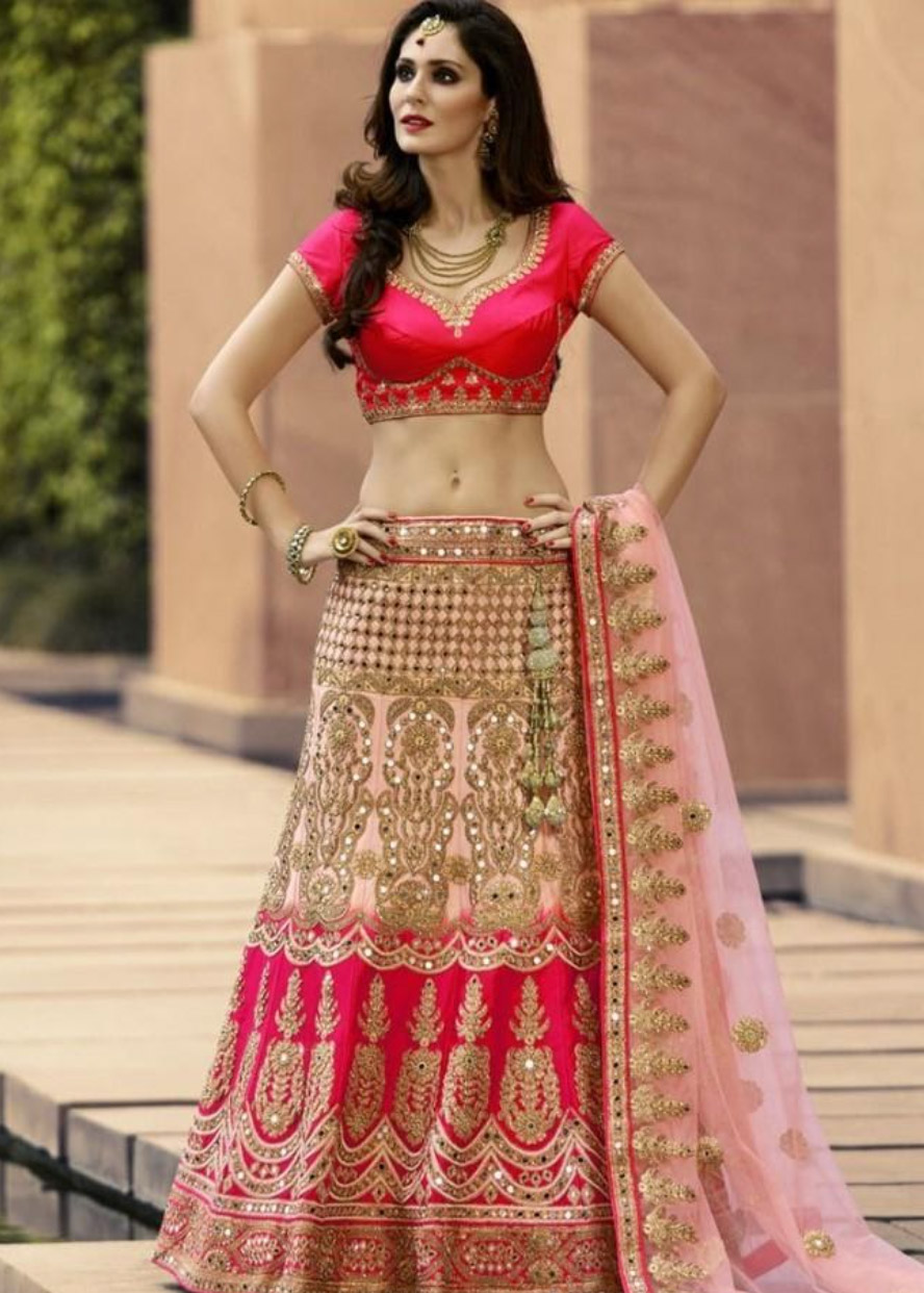 Lehenga-Designs-to-Wear-to-a-Traditional-Event-Straight-Cut-Lehenga