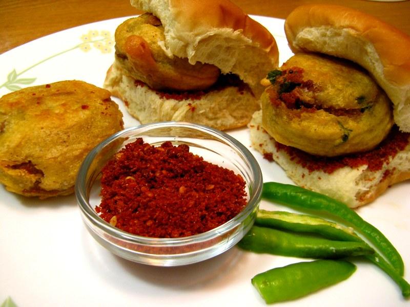 Maharashtrian food Vada Pav