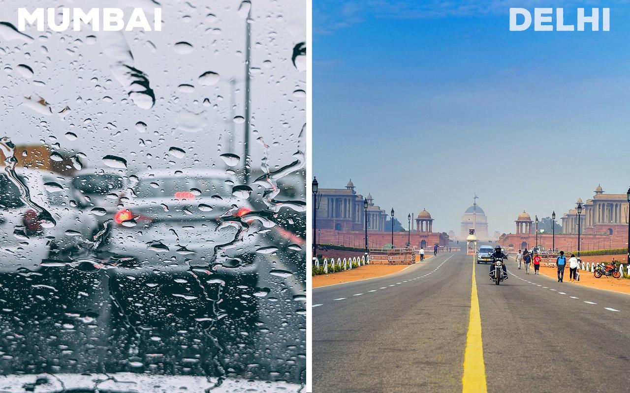 Mumbai-Climate-vs-Delhi-Climate
